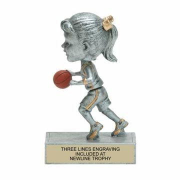 Female Basketball Bobble Trophy | Engraving Included