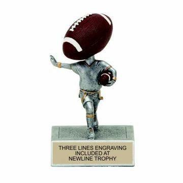 Flag Football Bobble Trophy | Engraving Included