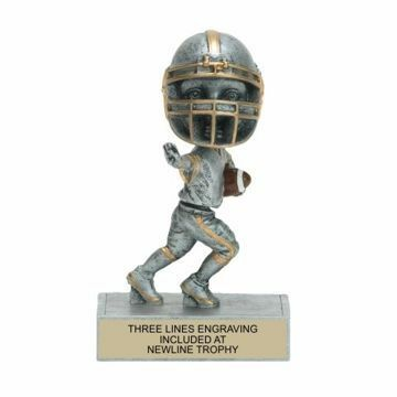 Male Football Bobble Trophy | Engraving Included
