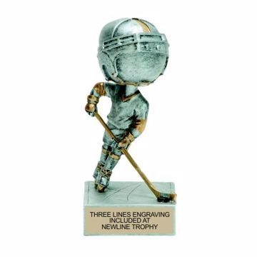 Hockey Bobble Trophy | Engraving Included