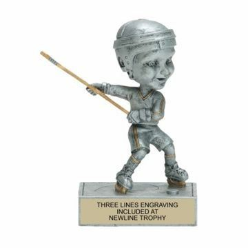 Male Hockey Bobble Trophy | Engraving Included