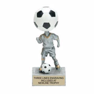Soccer Bobble Trophy | Engraving Included