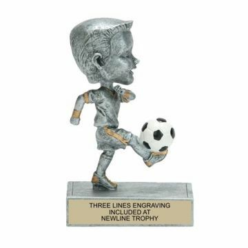 Male Soccer Bobble Trophy | Engraving Included