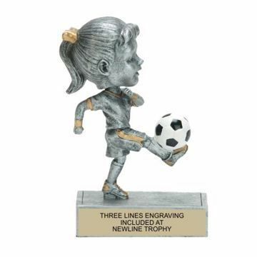 Female Soccer Bobble Trophy | Engraving Included