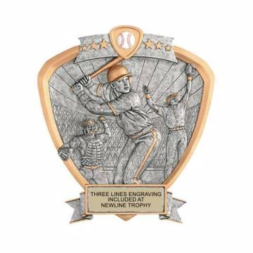 Shield Male Baseball Award | Engraving Included