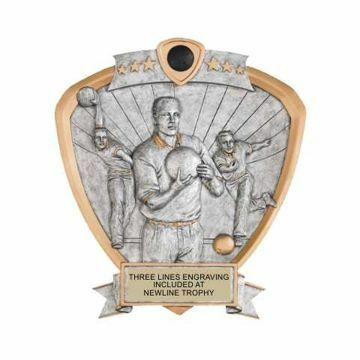 Shield Male Bowling Award | Engraving Included