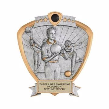 Shield Female Bowling Award | Engraving Included