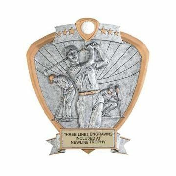 Shield Male Golf Award | Engraving Included