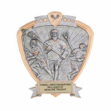 Shield Male Lacrosse Award | Engraving Included