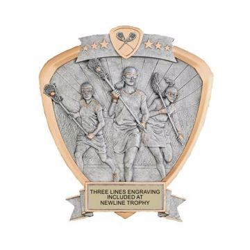 Shield Female Lacrosse Award | Engraving Inlcuded