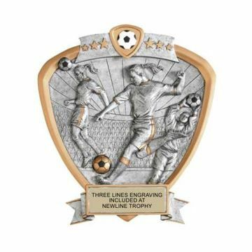 Shield Female Soccer Award | Engraving Included