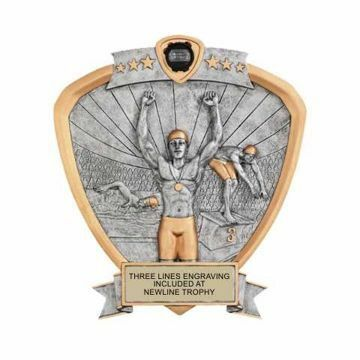 Shield Male Swimming Award | Engraving Included