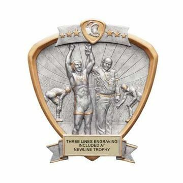 Shield Male Wrestling Award | Engraving Included