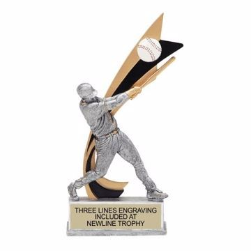 Live Action Resin Male Baseball Trophy | Engraving Included