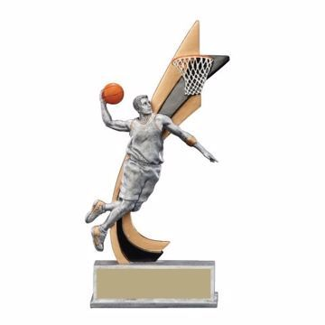 Live Action Resin Male Basketball Trophy | Engraving Included