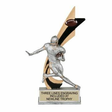 Live Action Resin Male Football Trophy | Engraving Included