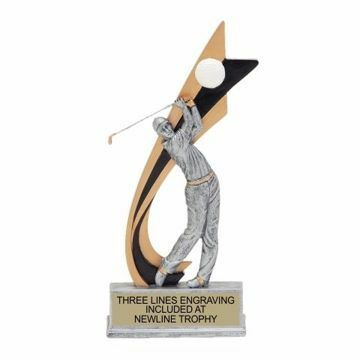 Live Action Resin Male Golf Trophy