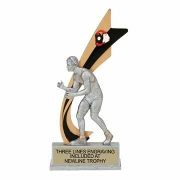 Live Action Resin Male Wrestling Trophy | Engraving Included