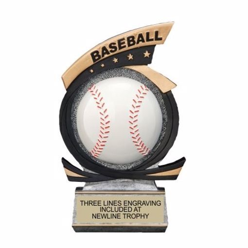 Gold Star Resin Baseball Trophy | Engraving Included