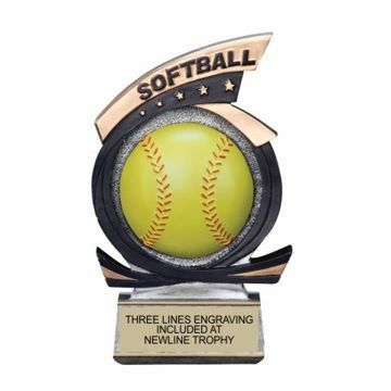 Gold Star Resin Softball Trophy | Engraving Included