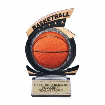 Gold Star Resin Basketball Trophy | Engraving Included