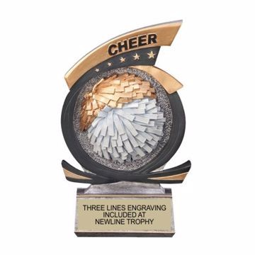 Gold Star Resin Cheerleader Trophy | Engraving Included