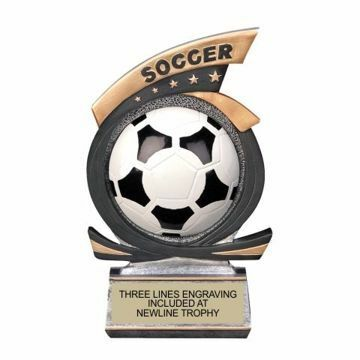 Gold Star Resin Soccer Trophy | Engraving Included
