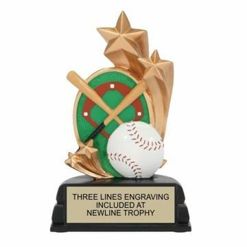 Star Baseball Resin Award | Engraving Included