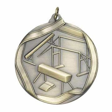 "MS608 2 1/4"" Die Cast Female Gymnastics Medallion 