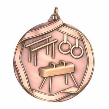 "MS609 2 1/4"" Die Cast Male Gymnastics Medallion 