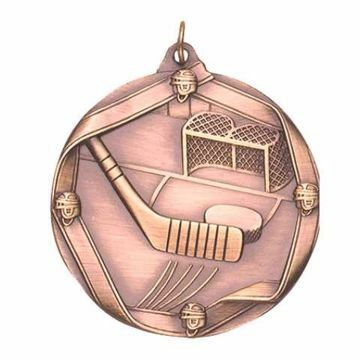 "MS610 2 1/4"" Die Cast Hockey Medallion 