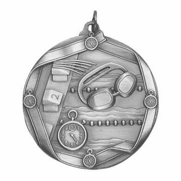 "MS614 2 1/4"" Die Cast Swimming Medallion 