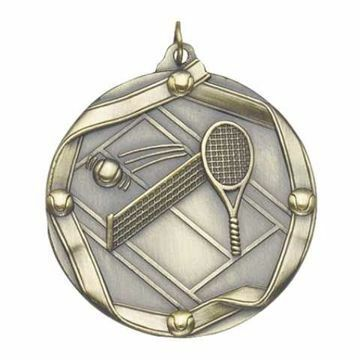 "MS615 2 1/4"" Die Cast Tennis Medallion 