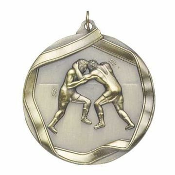 "MS618 2 1/4"" Die Cast Wrestling Medallion 