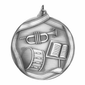 "MS653 2 1/4"" Die Cast Band Medallion 