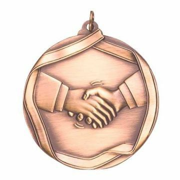 "MS658 2 1/4"" Die Cast Handshake Medallion 