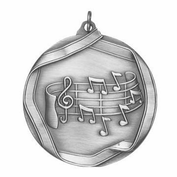 "MS659 2 1/4"" Die Cast Music Note Medallion 