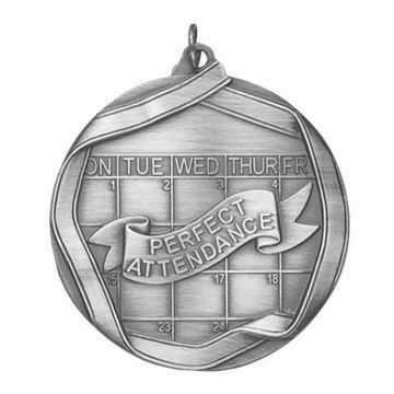 "MS660 2 1/4"" Die Cast Perfect Attendance Medallion 