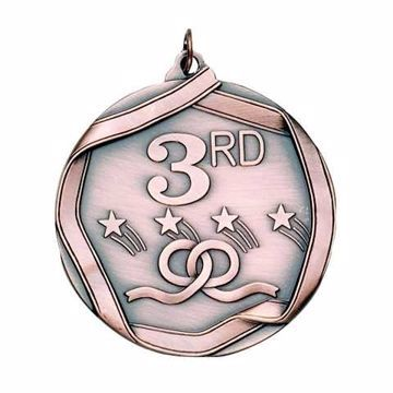 "MS693 2 1/4"" Die Cast 3rd Place Medallion 