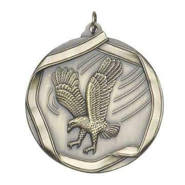 "MS657 2 1/4"" Die Cast Eagle Medallion 