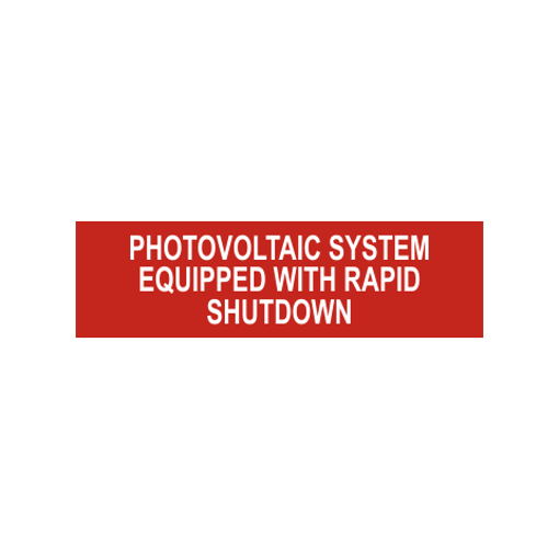 Photovoltaic System Equipped With Rapid Shutdown Solar Tag