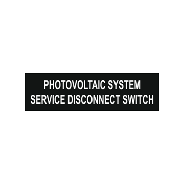 Photovoltaic System Service Disconnect Switch Solar Tag