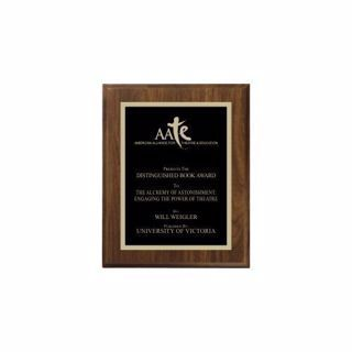 """Walnut Traditional Plaque 5"""" x 7"""" 