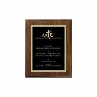 """Walnut Traditional Plaque 6"""" x 8"""" 
