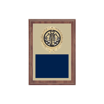 """5"""" x 7"""" Chess Plaque with gold background plate, colored engraving plate, gold wreath medallion and Chess insert."""
