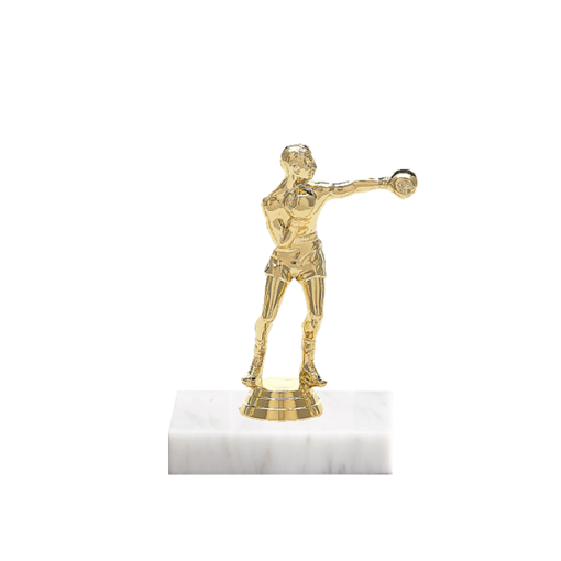 """5"""" Boxing Figure on Marble Base Trophy"""