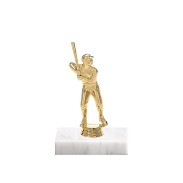"5"" Baseball Figure on Marble Base Trophy"