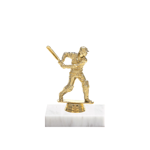 "5"" Cricket Figure on Marble Base Trophy"