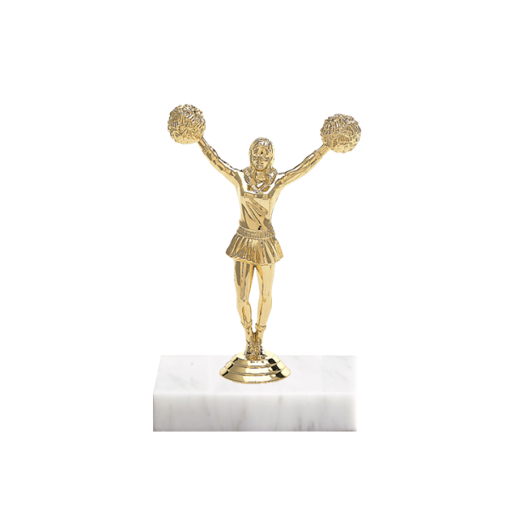 "5"" Cheerleading Figure on Marble Base Trophy"