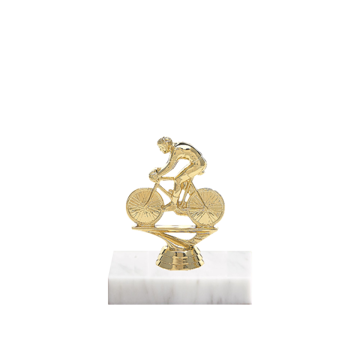 """5"""" Cycling Figure on Marble Base Trophy"""